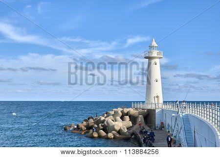 Lighthouse At Cheongsapo Port