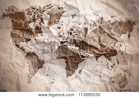 Old Textured Map