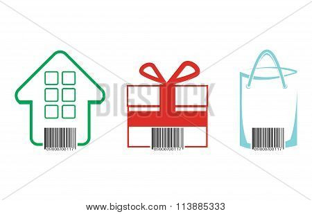 Commerce Concept With Bar Code.