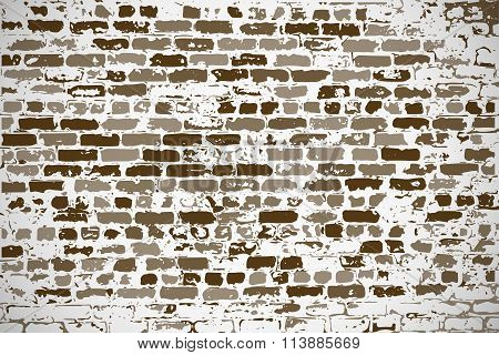 Wall Of Silicate Old Brick