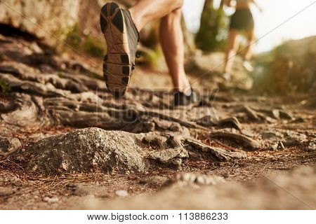 Cross Country Running On Rocky Terrain