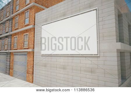 Billboard On A Building Wall, Mock Up