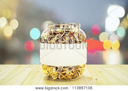 Glass Jar With Gold Coins