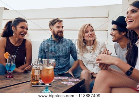 Group Of Friends Enjoying Party