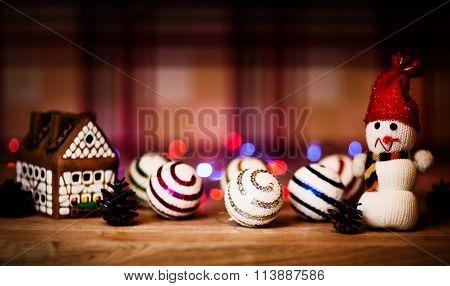fairy Christmas house cake with candle light inside