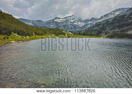 Amazing landscape of Banderishki Chukar peak before storm, Pirin Mountain