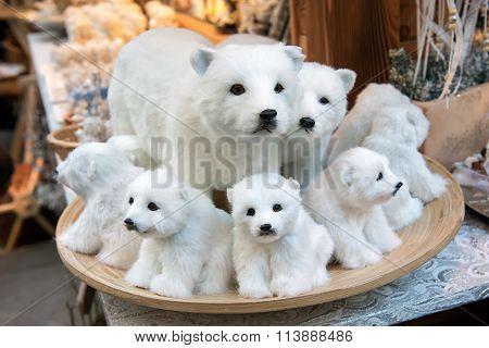 Stuffed White Bears