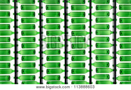Translucent Green Bottles Pattern