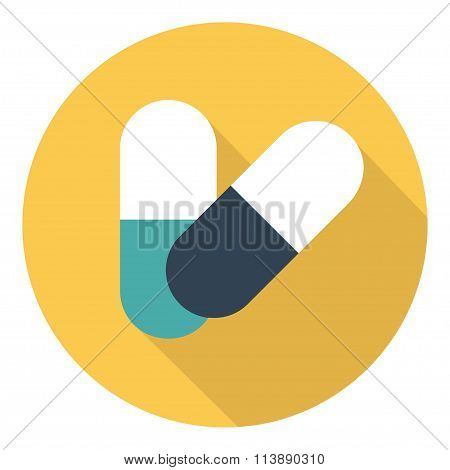 Medicine Vector Icon Pills Or Tablets, Capsules.