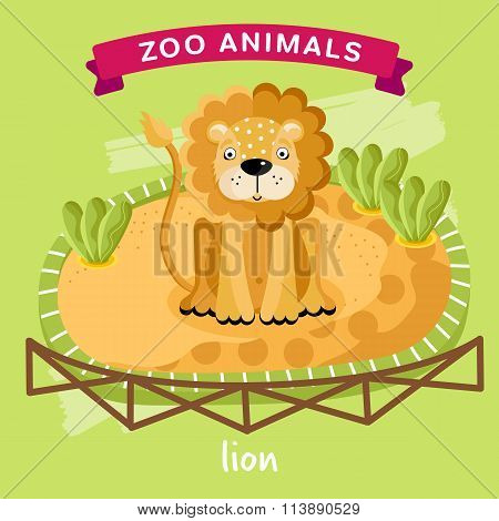 Vector Zoo Animal, Lion