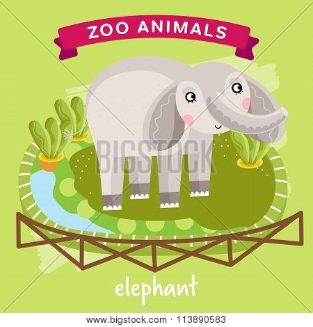 Vector Zoo Animal, Elephant