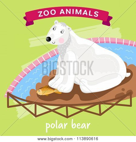 Vector Zoo Animal, Polar Bear