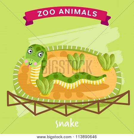 Vector Zoo Animal, Snake