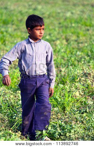 RURAL BOY VILLAGE LIFE INDIA