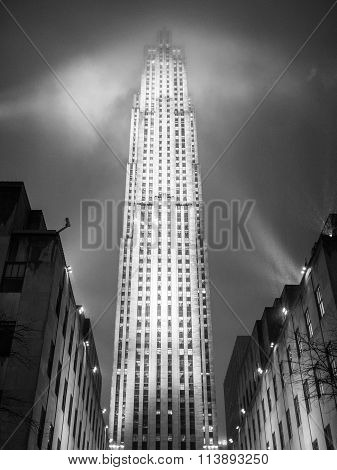 NEW YORK - JANUARY 3 2015: Rockefeller Center is a complex of different commercial buildings located in Midtown Manhattan.