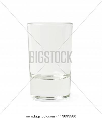 Empty glass shot isolated
