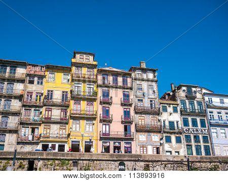 Porto Ribeira Colored Houses