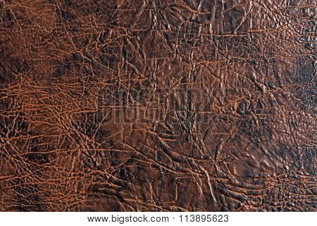 Brown And Black Artificial Leather Texture.
