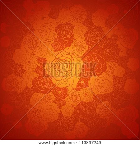 Chinese new year background. Floral design, vector illustration