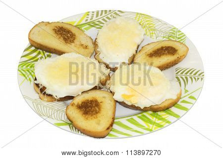 Sandwiches with eggs and Mozzarella