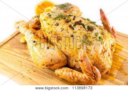 tasty and juicy  marinated chicken