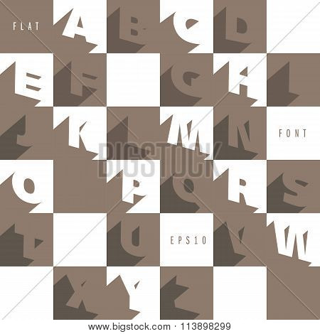 Flat alphabet icons