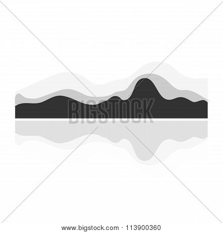 Vector music wave
