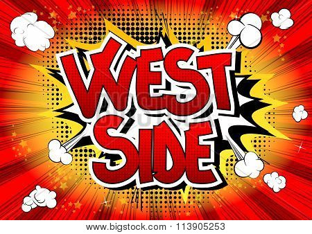 West Side - Comic Book Style Word.