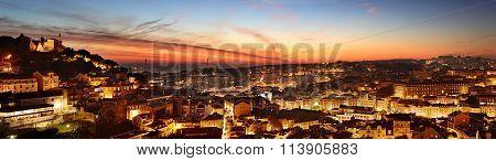 Lisbon Colorful Skyline, Portugal