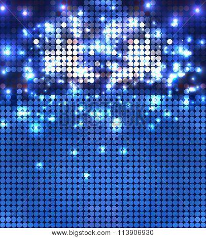 round blue sparkling spots mosaic