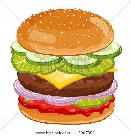Big Burger on white background.