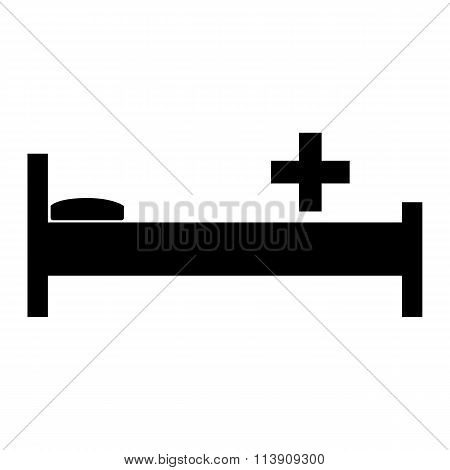 Hospital icon with bed