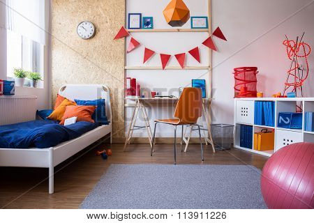 Bedroom And Study Room Combination