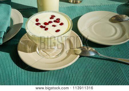 Nepali Yogurt With Pomegranate Seeds