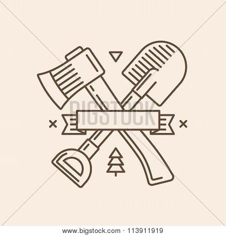 Axe And Shovel Emblem