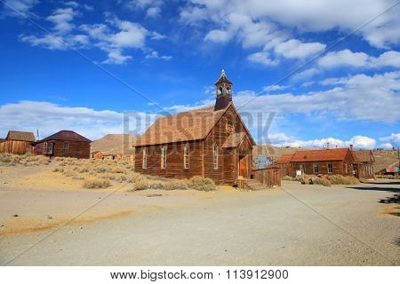 Old church in ghost town Bodie, California.