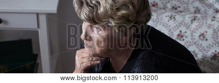Bereaved Miserable Woman