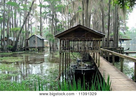 Boat Docks at Caddo Lake, Texas