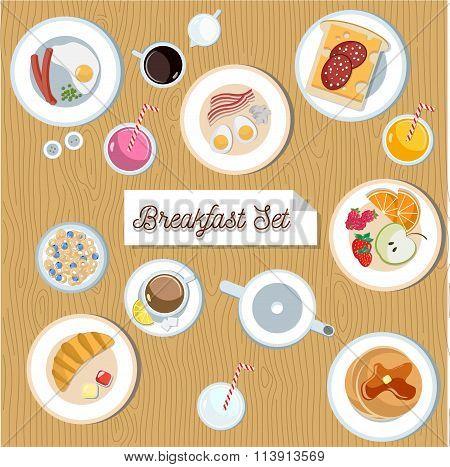 Beautiful breakfast set