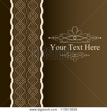Vertical book cover ornament vector template.