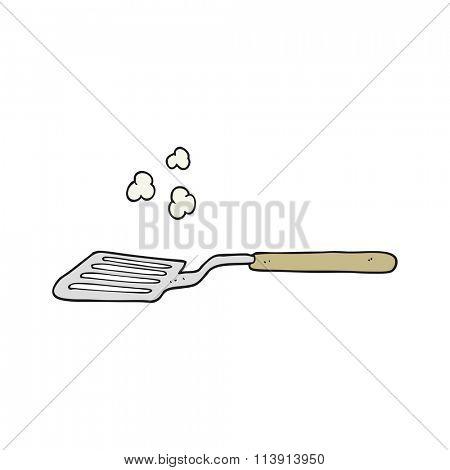 freehand drawn cartoon spatula