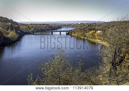 The mighty Mohawk River at Rexford, NY