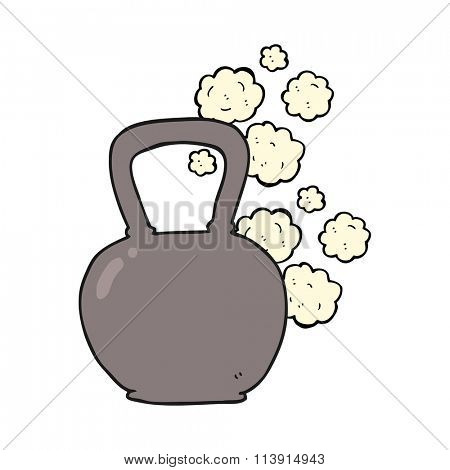 freehand drawn cartoon kettle bell