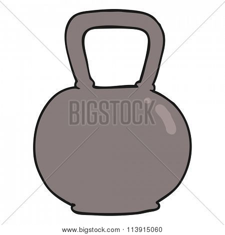 freehand drawn cartoon 40kg kettle bell weight