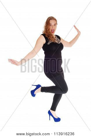 Dancing Woman In Black Tights.