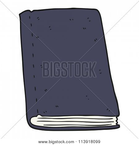 freehand drawn cartoon book