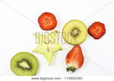 Kiwi Star Fruit Strawberry Slice