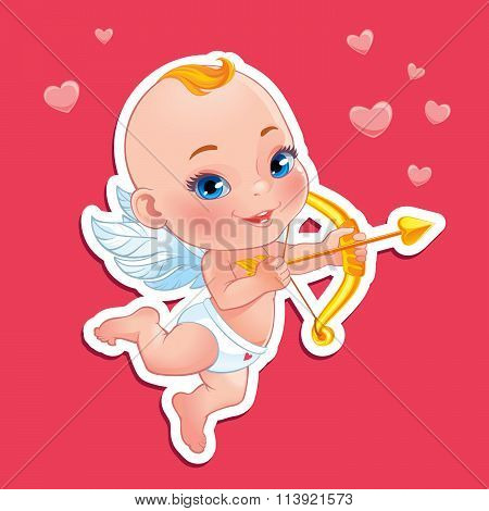 Lovely Cupid with bow