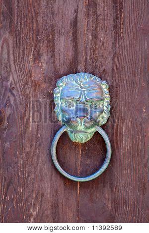Vintage  Brass Metal Door