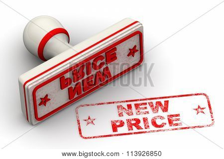 New price. Seal and imprint